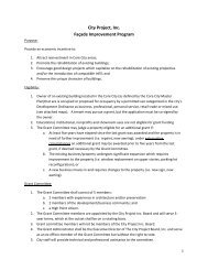 Facade Grant Guidelines - City of High Point