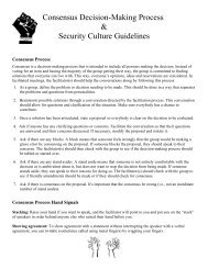 Consensus Decision-Making Process & Security Culture Guidelines
