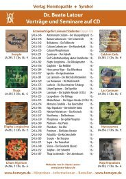 Dr. Beate Latour Vorträge und Seminare auf CD - Verlag ...