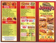 Johnny Chimi Menu