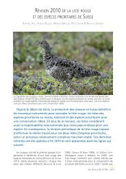révision 2010 de la liste rouge et des espèces prioritaires de suisse