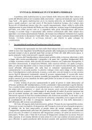 un'italia federale in un'europa federale - Consiglio regionale del ...