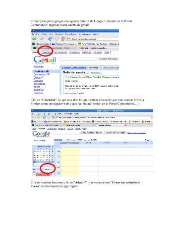 Google Calendar en el Portal Comunitario - Portal Comunitario del ...