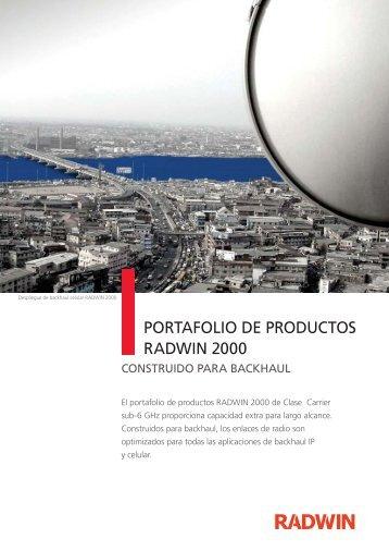 PORTAFOLIO DE PRODUCTOS RADWIN 2000 - Ralco Networks