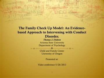 The Family Check Up Model