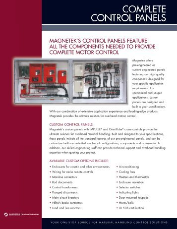 COMPLETE CONTROL PANELS - Ace Industries, Inc.