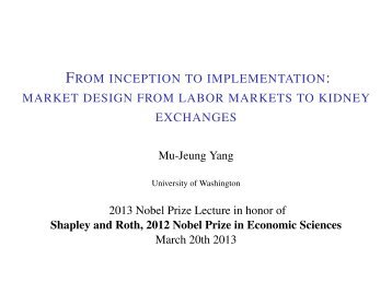 From inception to implementation: market design from ... - Economics