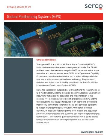 Global Positioning System (GPS) - Serco