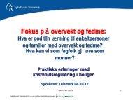Fokus p å overvekt og fedme: - Sykehuset Telemark
