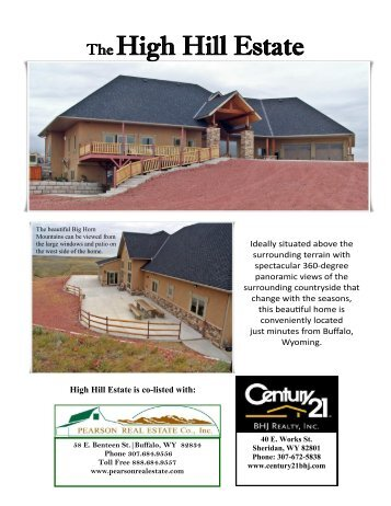 High Hill Estate Brochure - CENTURY 21 BHJ Realty, Inc