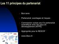 Les 11 principes du partenariat - Cooperation at EPFL