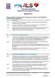 ALS2 / ALS Recertification Course Regulations - Australian ...