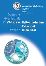 Programm - 128. Kongresses der Deutschen Gesellschaft für Chirurgie