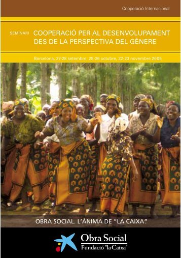 cooperació per al desenvolupament des de la perspectiva del gènere