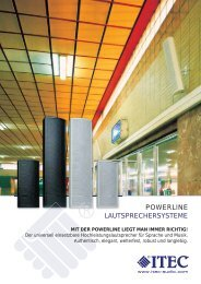 POWERLINE LAUTSPRECHERSYSTEME - Itec