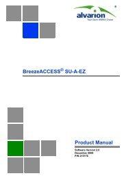 SU-A-EZ Product Manual, Ver.2.0 - Alvarion