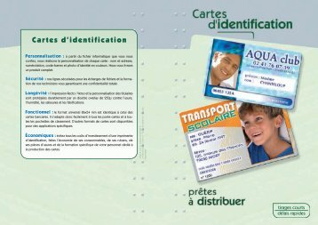 Cartes d'identification - Impressions Services
