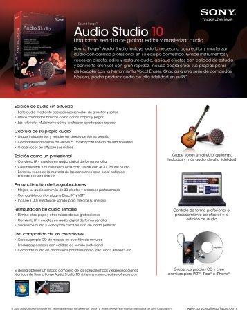 Audio Studio 10 - Sony Creative Software