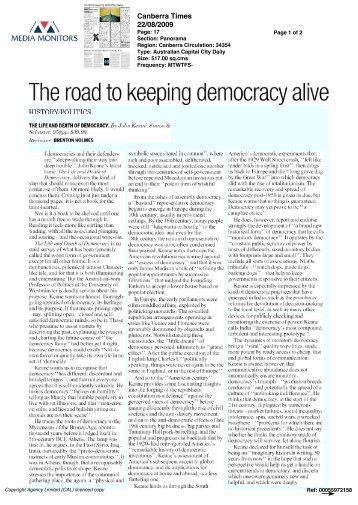 Original in pdf here - The Life And Death Of Democracy