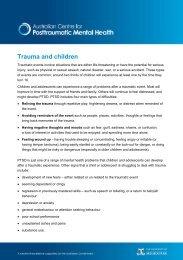 Trauma and children - Australian Centre for Posttraumatic Mental ...