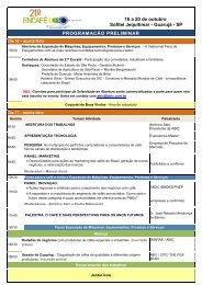 16 a 20 de outubro Sofitel Jequitimar - Guarujá - SP ... - Abic