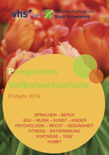 Programm Volkshochschule - Volkshochschule der Stadt Schenefeld
