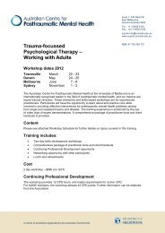 Trauma-focussed Psychological Therapy – Working with Adults