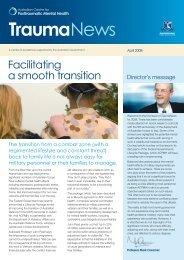 TraumaNews, April 2008 - Australian Centre for Posttraumatic ...