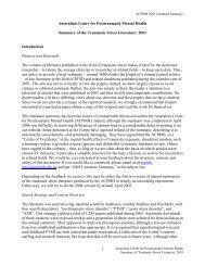 2003 Literature Summary - Australian Centre for Posttraumatic ...
