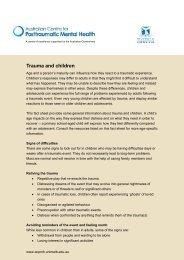 ACPMH_ factsheet - Australian Child & Adolescent Trauma, Loss ...