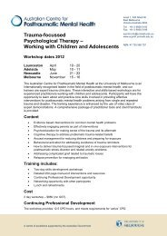 Working with Children and Adolescents - Australian Centre for ...