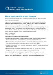 About posttraumatic stress disorder (PTSD) - Guidelines