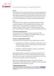 Aanvullende informatie - PowerShot SX110 IS - Canon
