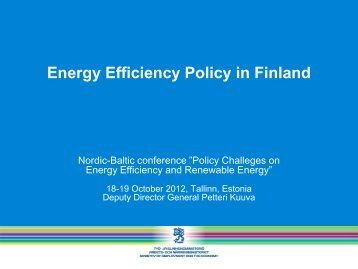 Energy Efficiency Policy in Finland - Rohevik