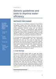 Generic guidelines and tools to improve water efficiency