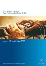 Annual Report - Australian Centre for Posttraumatic Mental Health