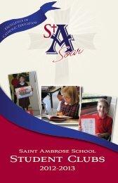 Clubs Brochure - Saint Ambrose School