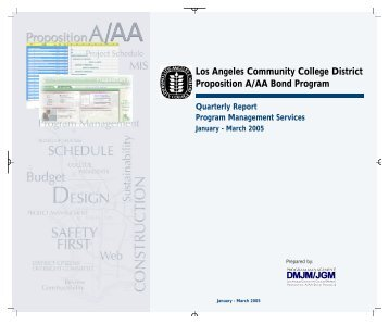 Quarterly Report, Ending March 30, 2005 - Build-laccd.org