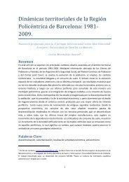 Dinámicas territoriales de la Región Policéntrica de ... - UPC