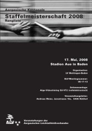 Aargauische Kantonale Staffelmeisterschaft Baden - LA Villmergen