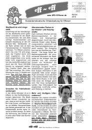 Eff-Eff Herbst 2010 - SPD Ortsverein Hürth