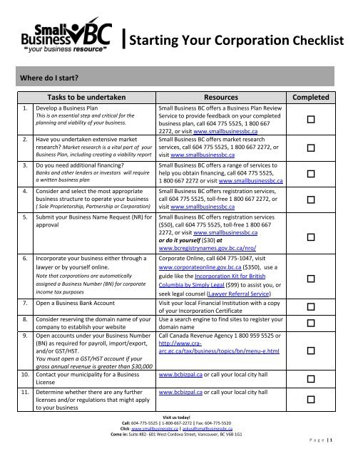 Starting a consulting business checklist