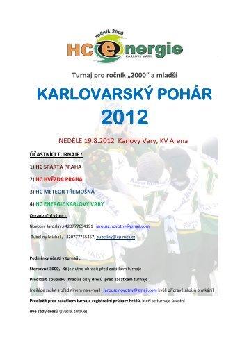 Karlovarský pohár 2012-propozice - HC Sparta Praha