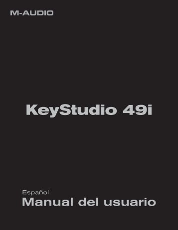 Manual del usuario | KeyStudio 49i - M-Audio