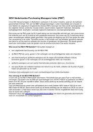 NEVI Nederlandse Purchasing Managers Index ... - NEVI Inkoopdag