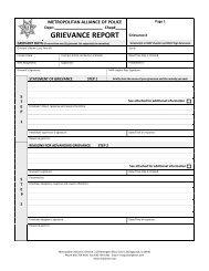 Grievance Form - Metropolitan Alliance of Police
