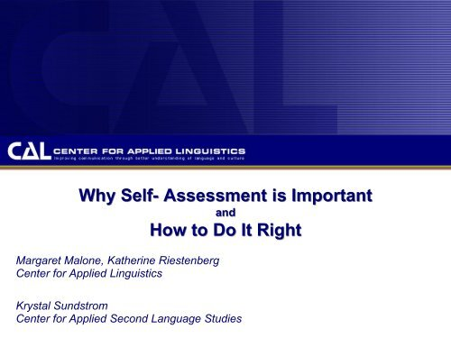 Why Self- Assessment is Important How to Do It Right - StarTalk