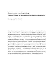 Perspektiven der Controllingforschung - Lehrstuhl für ...