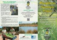 Phosphorus Awareness Project brochure - SERCUL