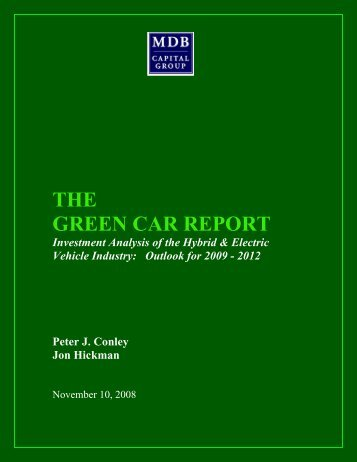 THE GREEN CAR REPORT - Zap